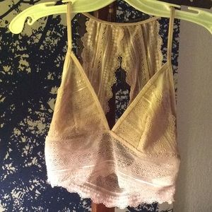 Other - Lace triangle back bralette, size M, dusty rose